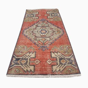 Small Vintage Turkish Cotton and Wool Carpet, 1970s