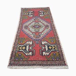 Kleiner türkischer Vintage Teppich aus Baumwolle & Wolle, 1970er