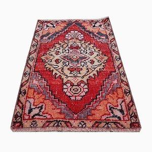 Vintage Turkish Cotton and Wool Oushak Carpet, 1970s