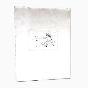 Les Amours de Cassandre Nude Etching on Silk by Salvador Dali, 1968