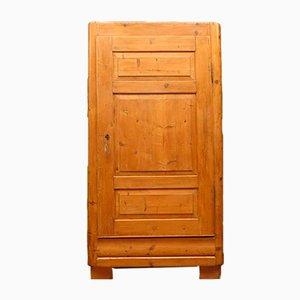 Antique Rustic Pine Linen Press Cupboard