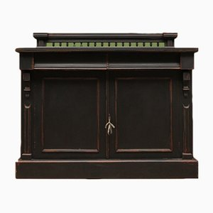 Antique Black Painted Mahogany and Pine Sideboard