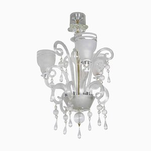 Mid-Century Italian Murano Glass 3-Light Chandelier, 1968