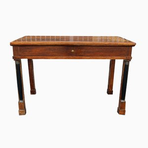 19th-Century Empire Italian Walnut Console Table