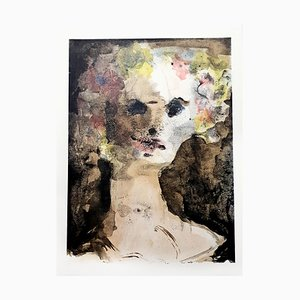 Flower Crown Lithograph by Leonor Fini, 1964