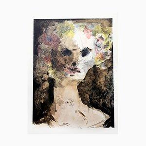Lithographie Flower Crown par Leonor Fini, 1964