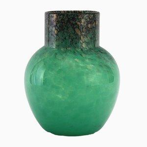 Vase Art Déco en Verre par Salvador Ysart pour Monart, 1930s