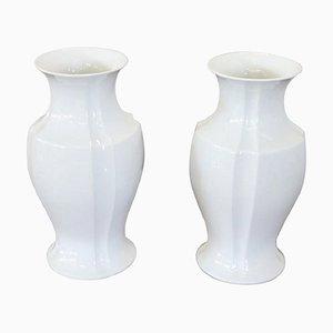 Jarrones de porcelana en blanco de KPM, años 60. Juego de 2