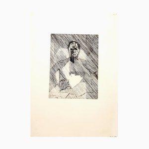 Gravure à l'Eau-Forte Cubist Man par Jacques Villon, 1949