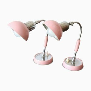Mid-Century Chrome Table Lamps, 1960s, Set of 2