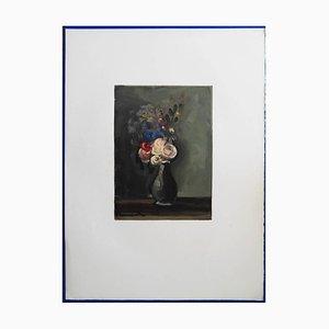Les Roses Pompon Woodcut by Maurice de Vlaminck, 1960s