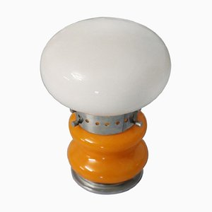 Vintage Murano Glass & Chrome Table Lamp from Mazzega, 1970s