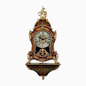 Horloge Mid-Century en Bois Courbé et Laiton, Allemagne, 1940s