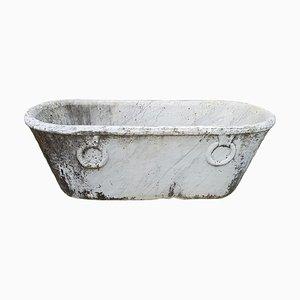 Antike Badewanne oder Pflanzer aus Marmor, 1800er
