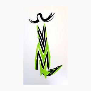 Color Pochoir by Sonia Delaunay, 1969
