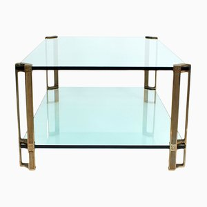 Brass and Glass Coffee Table by Peter Ghyczy, 1970s