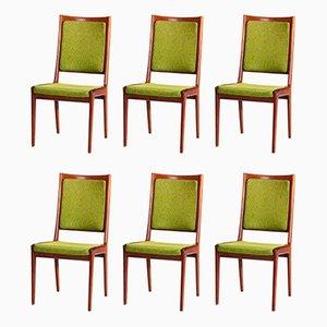 Esszimmerstühle aus Mahagoni von Karl-Erik Ekselius für JOC Vetlanda, 1960er, 6er Set