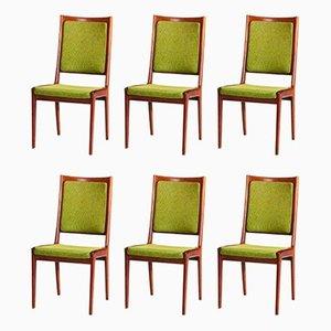 Mahogany Dining Chairs by Karl-Erik Ekselius for JOC Vetlanda, 1960s, Set of 6