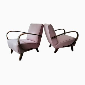 Beech Easy Chairs by Jindřich Halabala for Thonet, 1950s, Set of 2