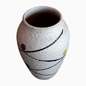 Jarrón 856/17 vintage de cerámica esmaltada en blanco de Scheurich