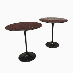 Tables Basses Marquinia Noires par Eero Saarinen pour Knoll, Italie, 1950s, Set de 2