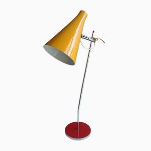 L117-2028 Tischlampe aus Aluminium & verchromtem Metall von Josef Hurka für Lidokov, 1960er