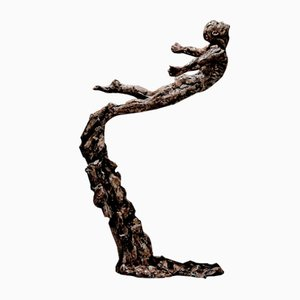 Leap Of Faith Bronze Sculpure by Ian Edwards, 2017