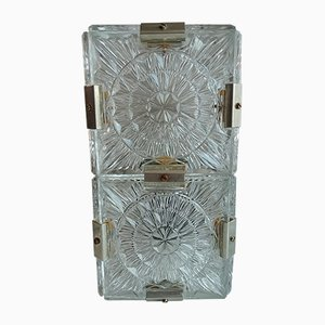 Tischlampen aus Kupfer & Glas von Kamenický Šenov, 1960er, 2er Set