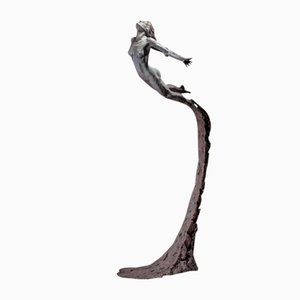 Sculpture Leap Within Faith en Bronze par Ian Edwards, 2017