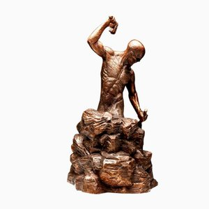 Escultura Creation of Self de bronce de Ian Edwards, 2017