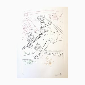 The Black Knight Etching by Salvador Dali, 1975