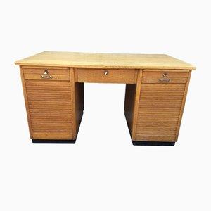 Vintage Oak Tambour Desk