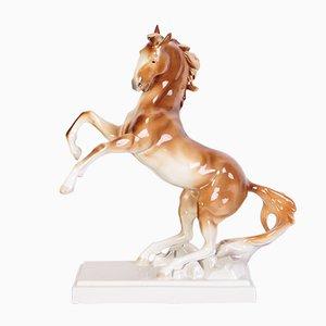 Mid-Century Pferdeskulptur aus Keramik von Royal Dux, 1960er