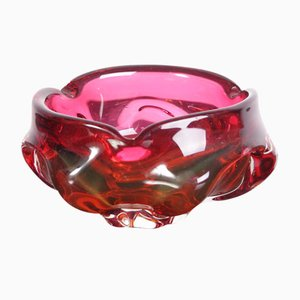 Mid-Century Glass Cigar Ashtray from Sklarny Skrdlovice, 1960s