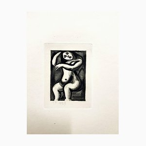 Gravure Ubu the King par Georges Rouault, 1929
