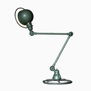 Grüne industrielle Vintage Tischlampe von Jean-Louis Domecq
