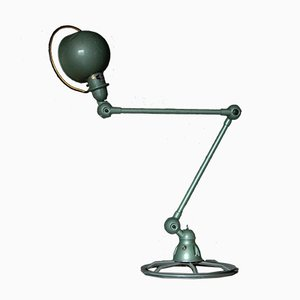 Vintage Industrial Green Table Lamp by Jean-Louis Domecq