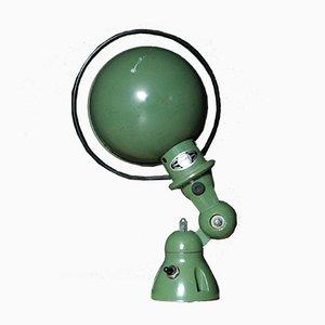 Industrielle Vintage Wandlampe in Grün von Jean-Louis Domecq
