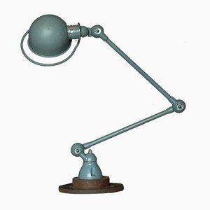 Industrielle graue Vintage Tischlampe von Jean-Louis Domecq