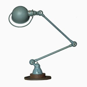 Vintage Industrial Grey Table Lamp by Jean-Louis Domecq