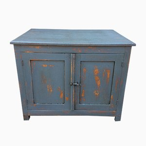 Mid-Century Industrial Fir Workshop Cabinet, 1940s