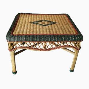 Vintage Tisch aus Korbgeflecht