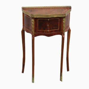 Mid-Century Mahogany and Brass Bedside Cabinet, 1960s