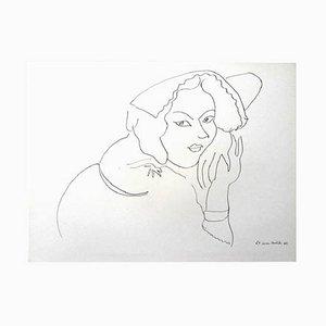 Kürbis und Blumen Lithografie von Henri Matisse, 1943
