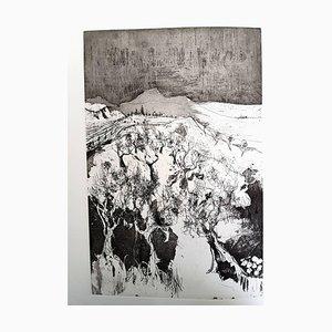 Loneliness Etching by Jean Jansem, 1974