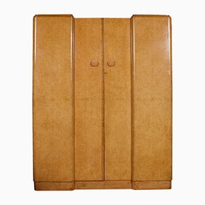 Art Deco Bakelite and Walnut Wardrobe, 1920s