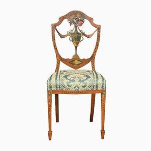 Sheraton Revival Stuhl aus Seidenholz, 19. Jh.