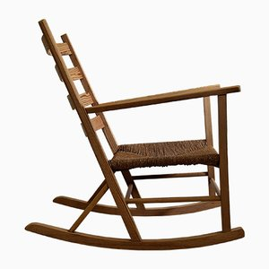 Vintage Norwegian Pine Rocking Chair, 1930s
