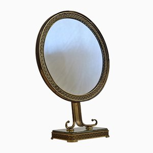 Mid-Century Italian Brass Vanity Mirror