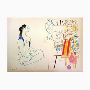 The Human Comedy Lithograph by Pablo Picasso, 1954